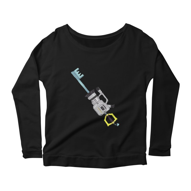 VX Keyblade Women's Scoop Neck Longsleeve T-Shirt by Sonyvx1000's Artist Shop
