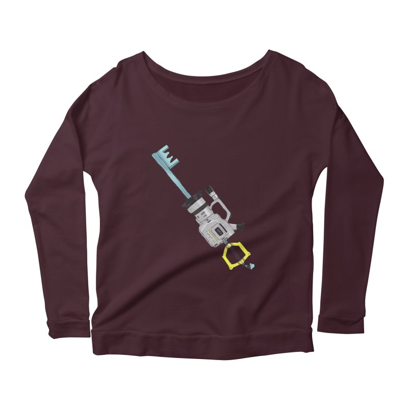 VX Keyblade Women's Longsleeve Scoopneck  by Sonyvx1000's Artist Shop