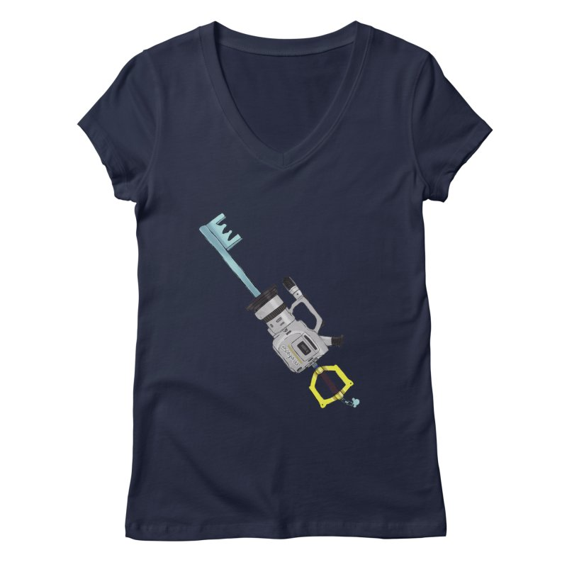 VX Keyblade Women's V-Neck by Sonyvx1000's Artist Shop