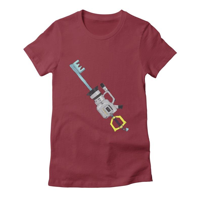 VX Keyblade Women's Fitted T-Shirt by Sonyvx1000's Artist Shop