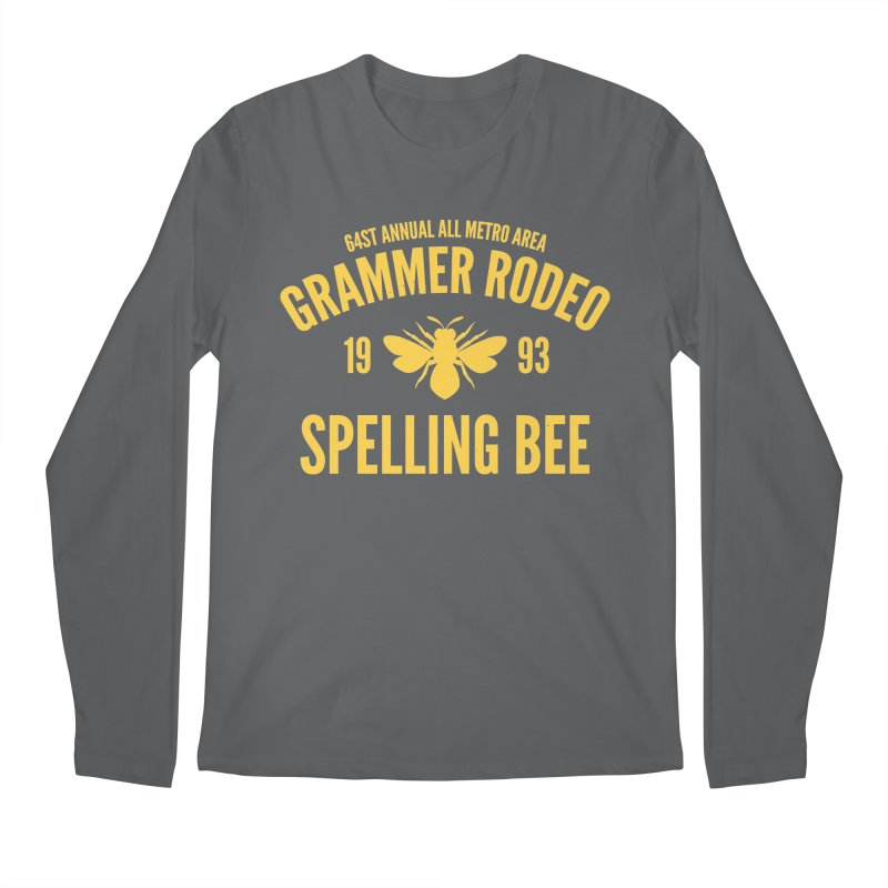 Ironic Grammar Rodeo Men's Longsleeve T-Shirt by Sorolo's Artist Shop