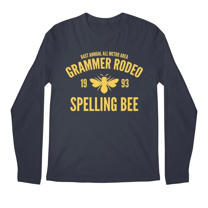 Ironic Grammar Rodeo Men's Longsleeve T-Shirt by Sorolo's Artist Shop