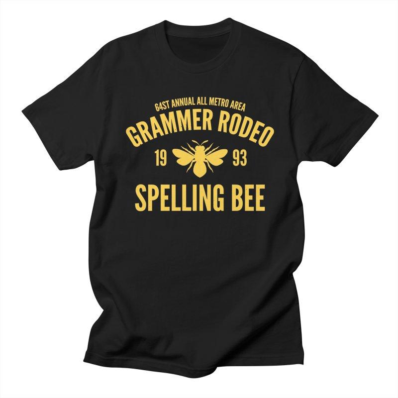 Ironic Grammar Rodeo Men's T-Shirt by Sorolo's Artist Shop