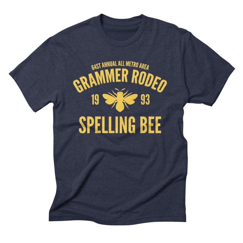 Ironic Grammar Rodeo Men's Triblend T-Shirt by Sorolo's Artist Shop