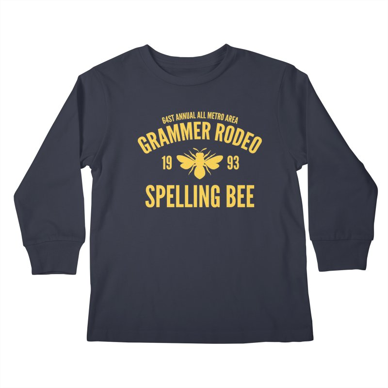 Ironic Grammar Rodeo Kids Longsleeve T-Shirt by Sorolo's Artist Shop