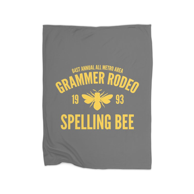 Ironic Grammar Rodeo Home Blanket by Sorolo's Artist Shop