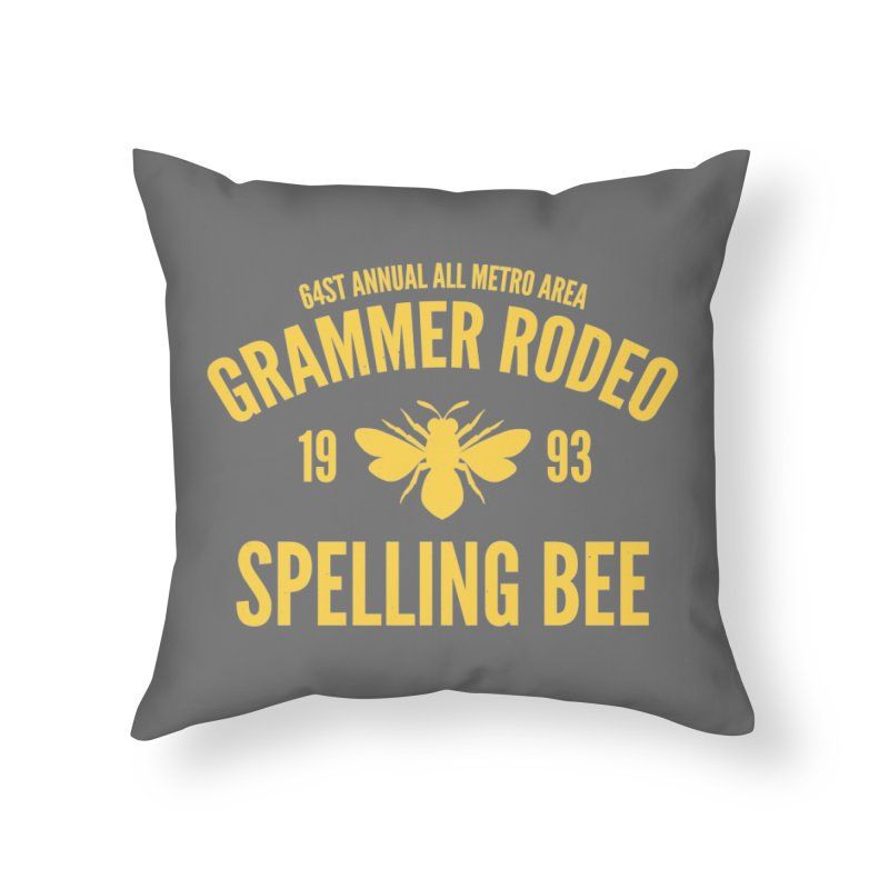 Ironic Grammar Rodeo Home Throw Pillow by Sorolo's Artist Shop