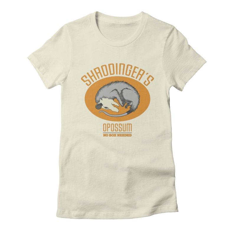 Schrodinger's Opossum Women's Fitted T-Shirt by Sorolo's Artist Shop
