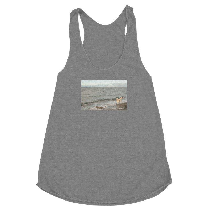 Beach Women's Racerback Triblend Tank by Soulstone's Artist Shop