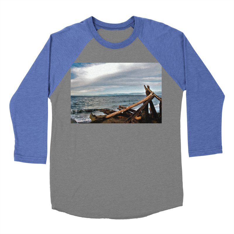 Beach 2 Women's Baseball Triblend T-Shirt by Soulstone's Artist Shop