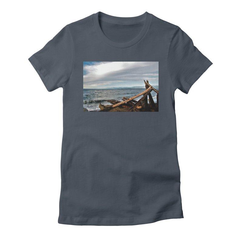 Beach 2 Women's Fitted T-Shirt by Soulstone's Artist Shop