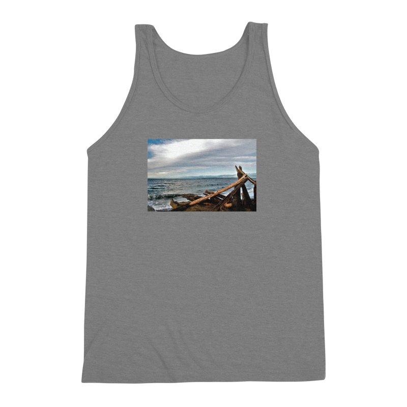 Beach 2 Men's Triblend Tank by Soulstone's Artist Shop