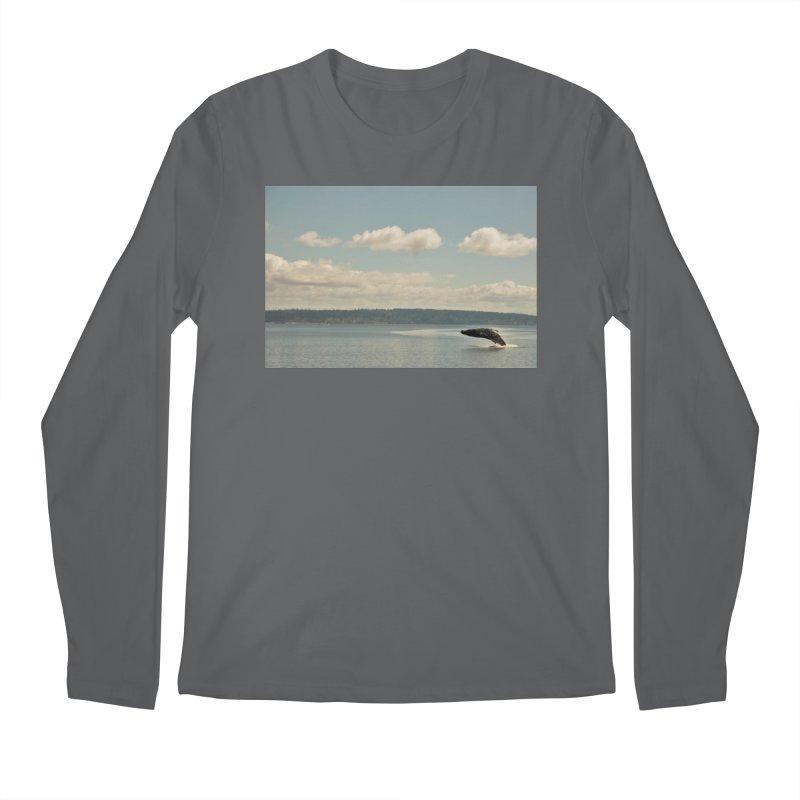 Humpback breach Men's Longsleeve T-Shirt by Soulstone's Artist Shop