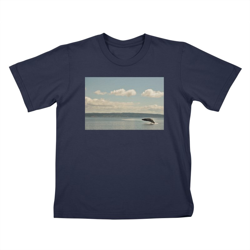 Humpback breach Kids T-Shirt by Soulstone's Artist Shop