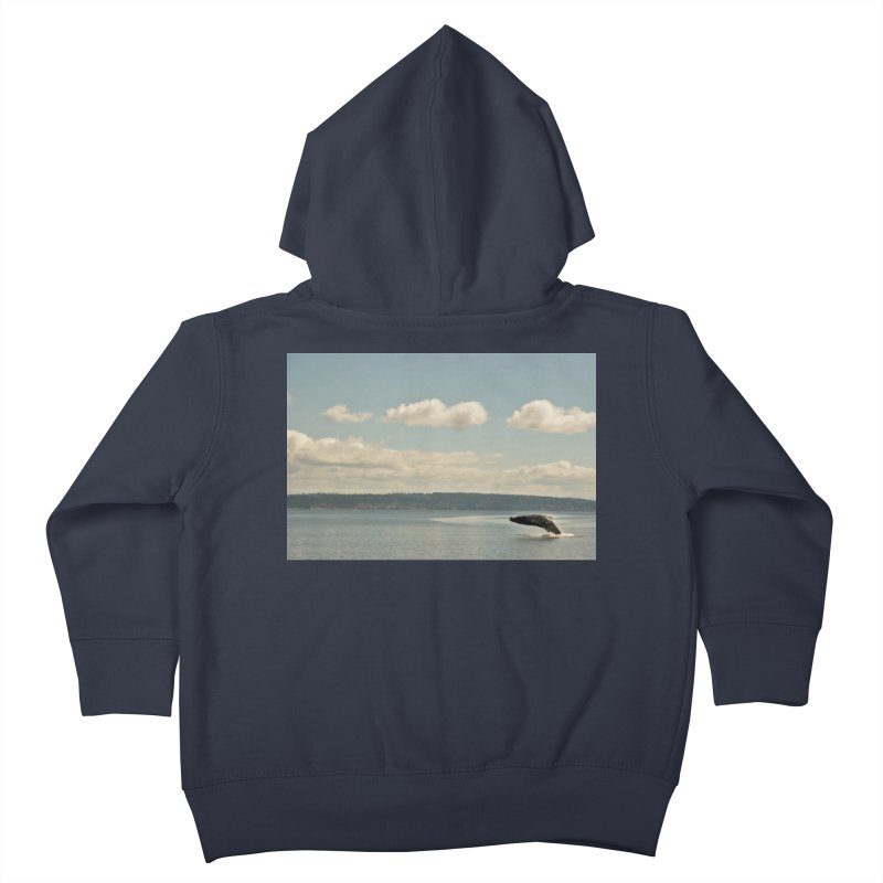 Humpback breach Kids Toddler Zip-Up Hoody by Soulstone's Artist Shop