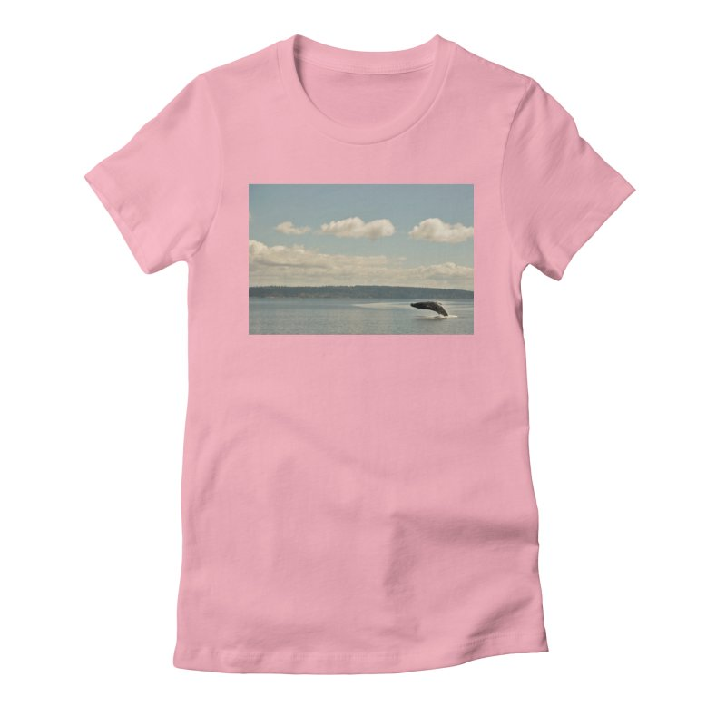 Humpback breach Women's Fitted T-Shirt by Soulstone's Artist Shop