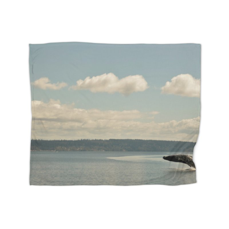 Humpback breach Home Blanket by Soulstone's Artist Shop