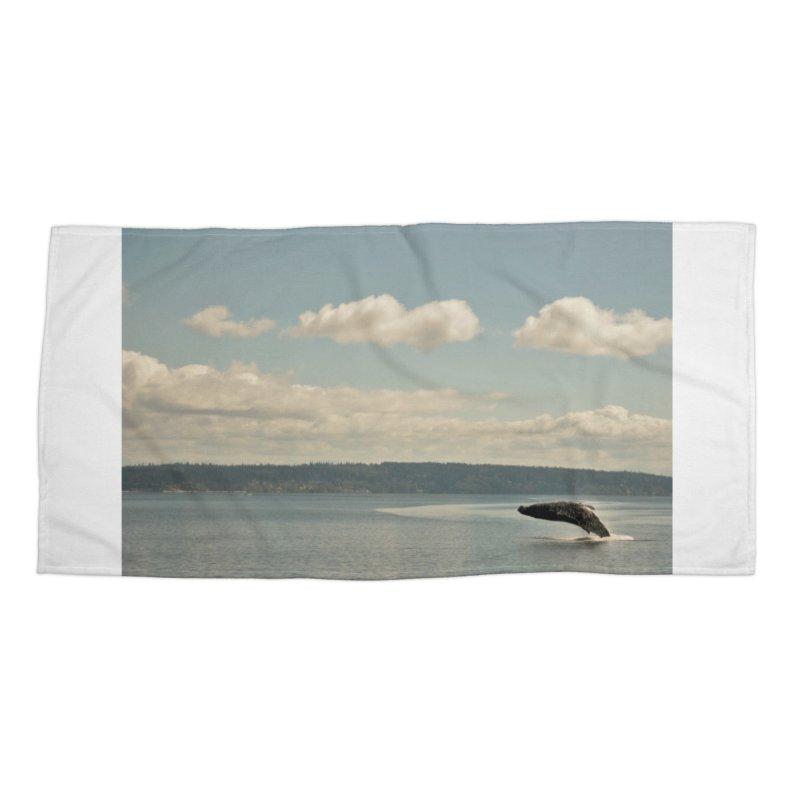 Humpback breach Accessories Beach Towel by Soulstone's Artist Shop