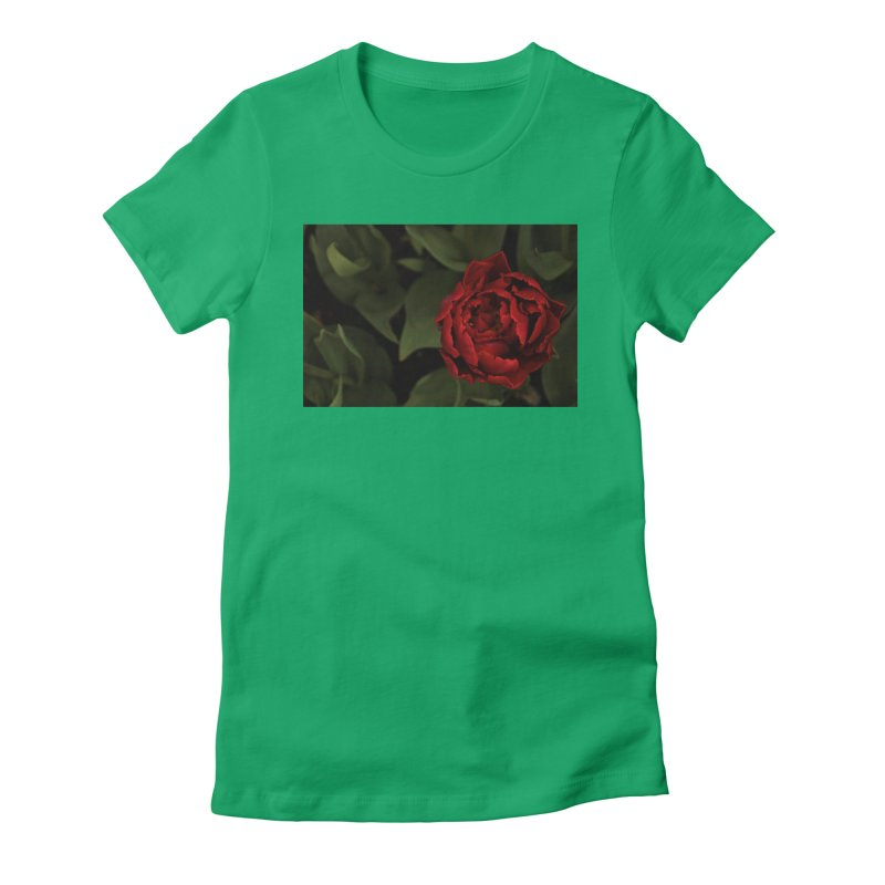 Rose Women's Fitted T-Shirt by Soulstone's Artist Shop