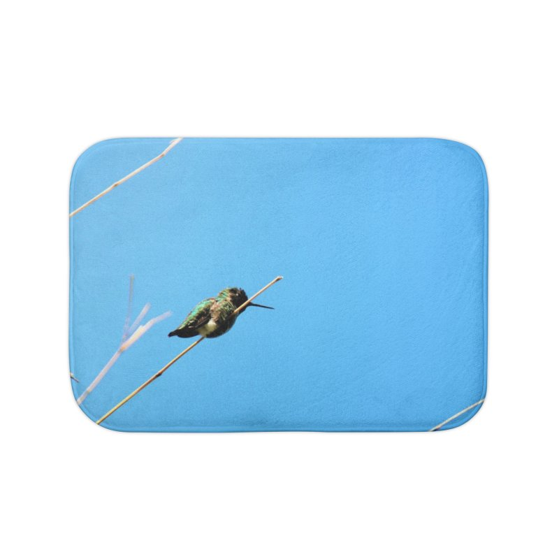 Hummingbird Home Bath Mat by Soulstone's Artist Shop