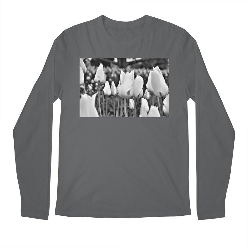 Grayscale tulips Men's Longsleeve T-Shirt by Soulstone's Artist Shop