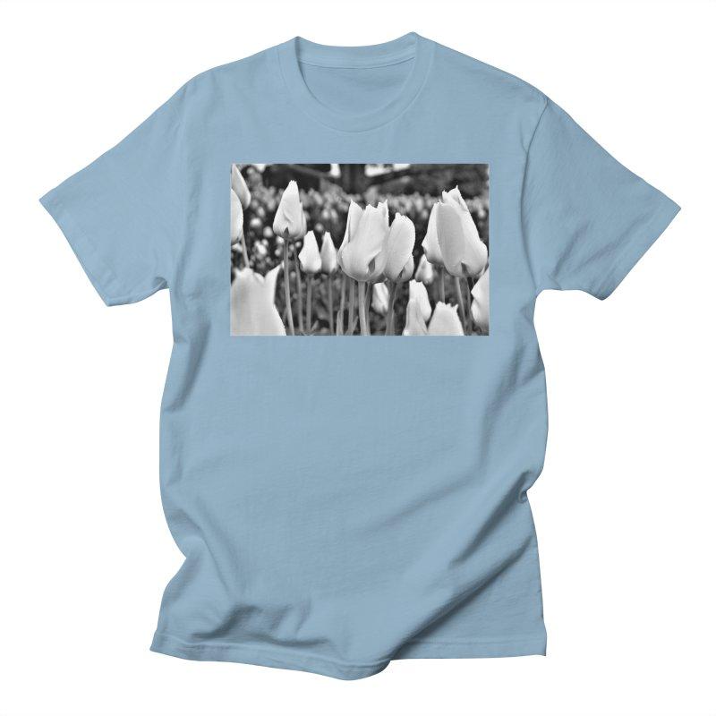 Grayscale tulips Women's Unisex T-Shirt by Soulstone's Artist Shop