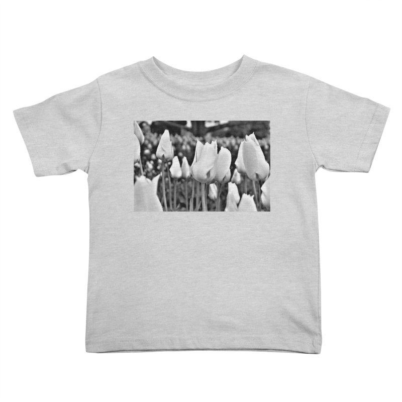 Grayscale tulips Kids Toddler T-Shirt by Soulstone's Artist Shop