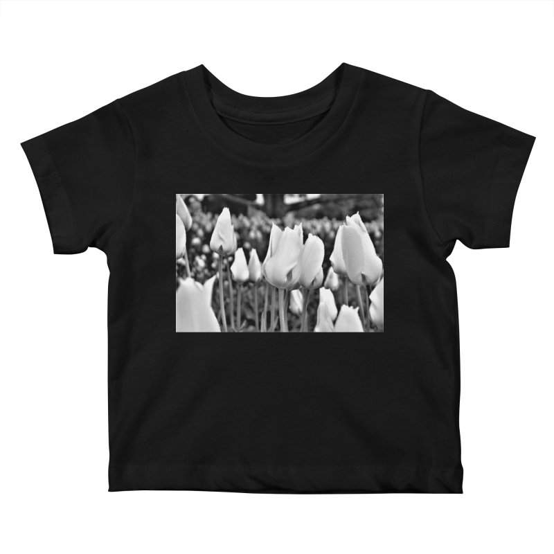 Grayscale tulips Kids Baby T-Shirt by Soulstone's Artist Shop