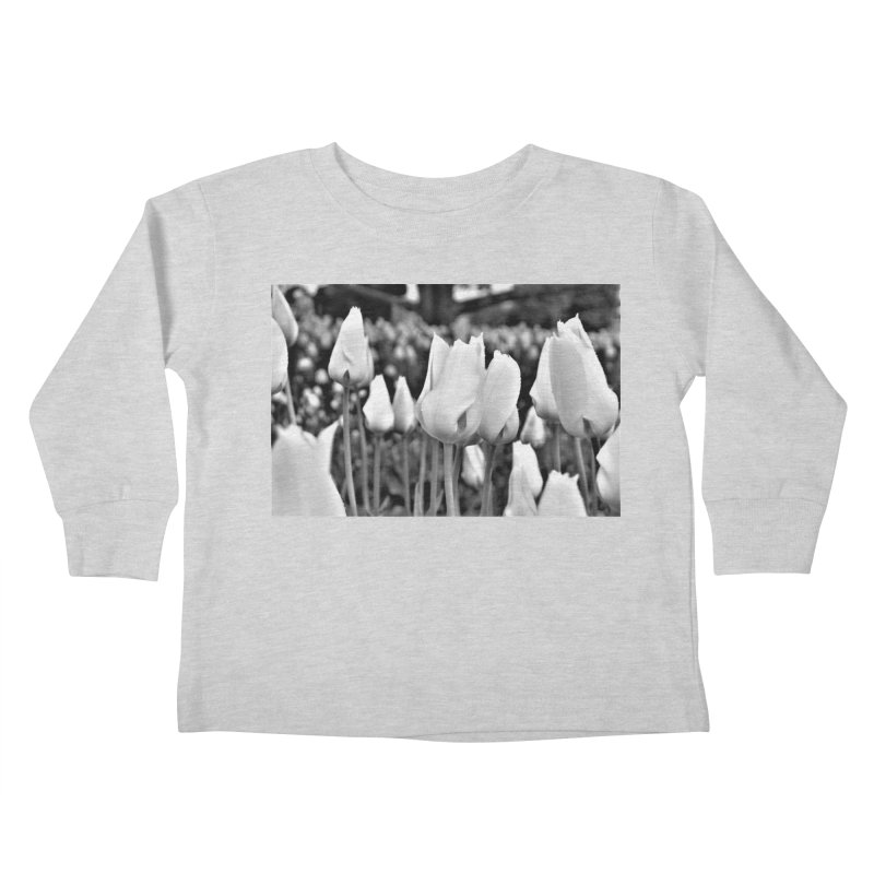 Grayscale tulips Kids Toddler Longsleeve T-Shirt by Soulstone's Artist Shop