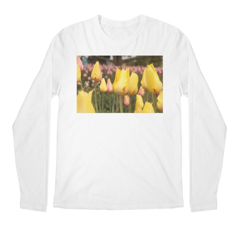 Yellow Tulips Men's Longsleeve T-Shirt by Soulstone's Artist Shop