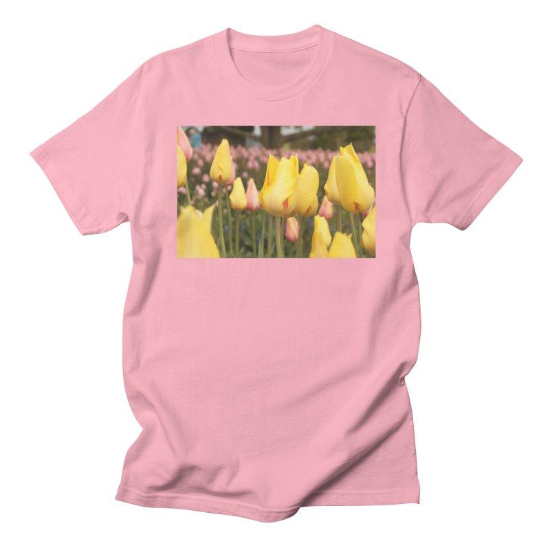 Yellow Tulips Men's T-shirt by Soulstone's Artist Shop