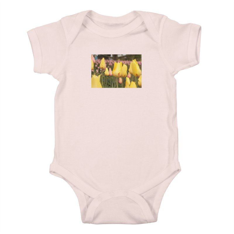 Yellow Tulips Kids Baby Bodysuit by Soulstone's Artist Shop