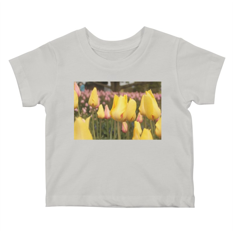 Yellow Tulips Kids Baby T-Shirt by Soulstone's Artist Shop