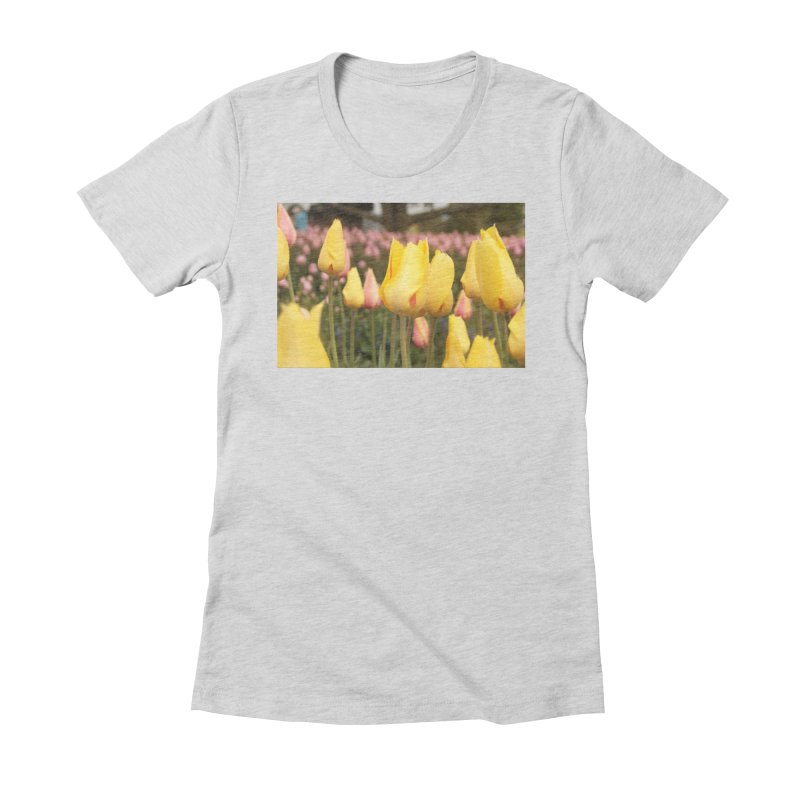 Yellow Tulips Women's Fitted T-Shirt by Soulstone's Artist Shop