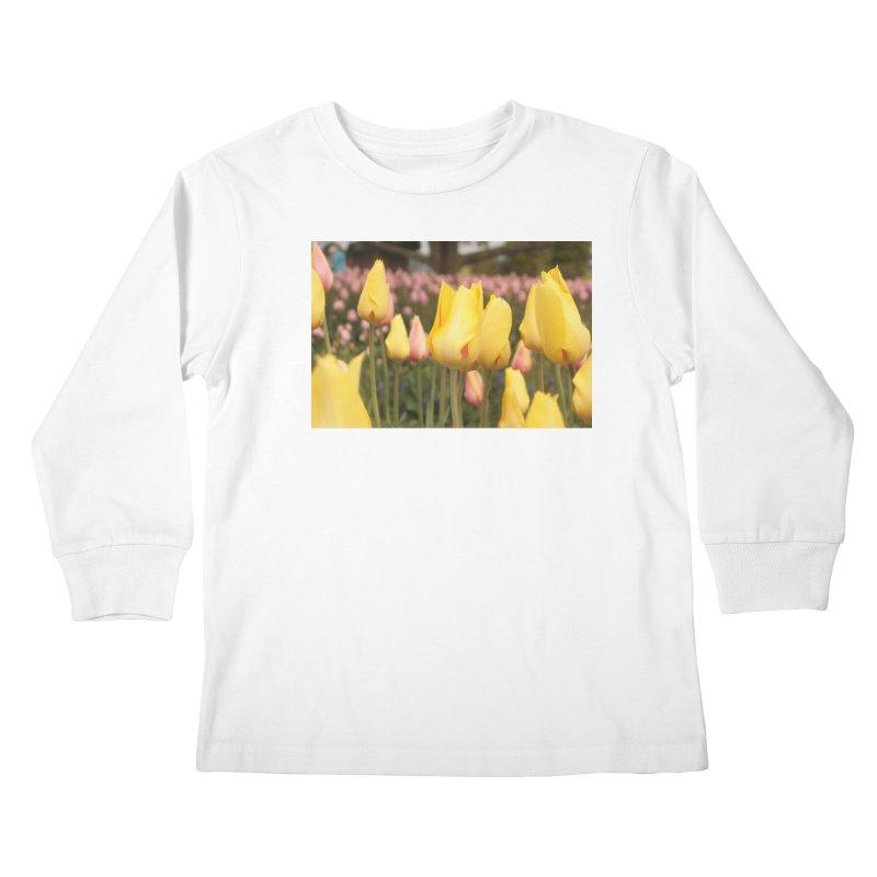 Yellow Tulips Kids Longsleeve T-Shirt by Soulstone's Artist Shop