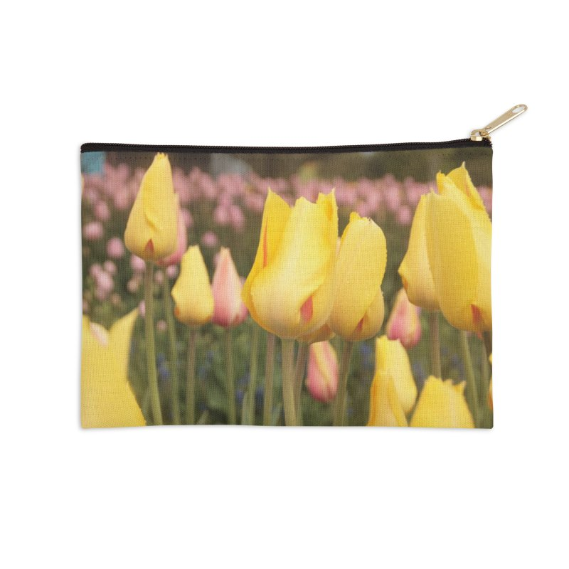 Yellow Tulips Accessories Zip Pouch by Soulstone's Artist Shop