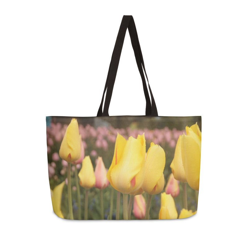 Yellow Tulips Accessories Bag by Soulstone's Artist Shop