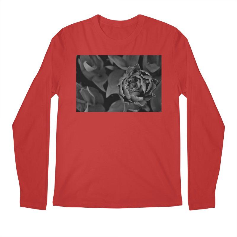 grayscale rose Men's Longsleeve T-Shirt by Soulstone's Artist Shop