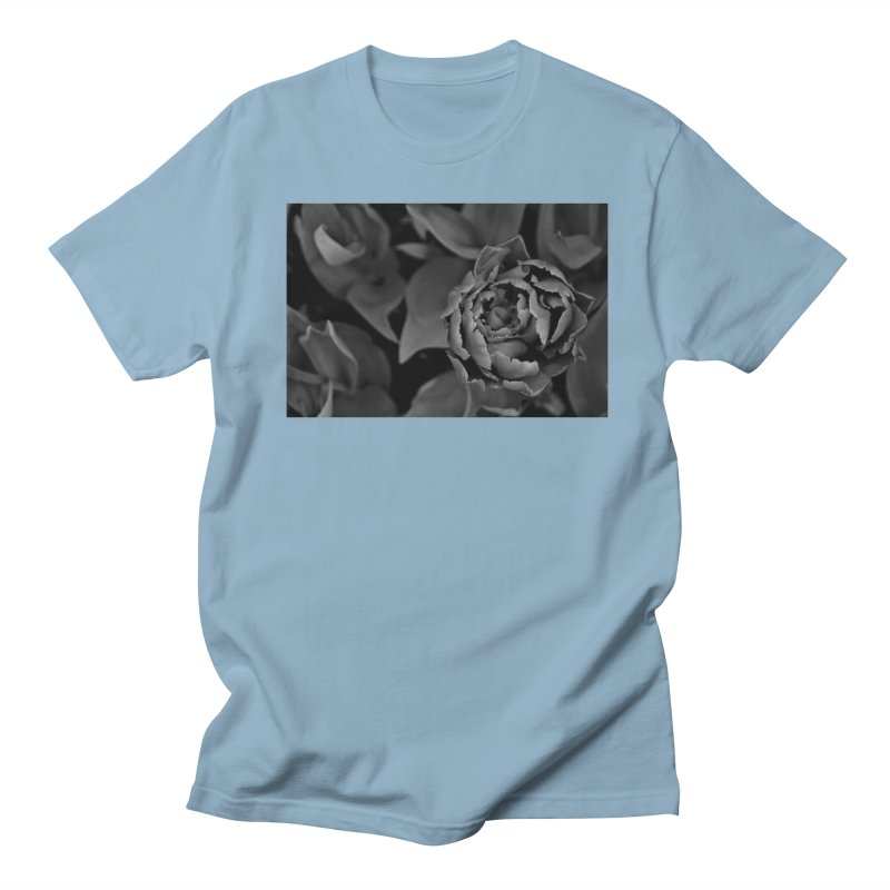 grayscale rose Men's T-Shirt by Soulstone's Artist Shop