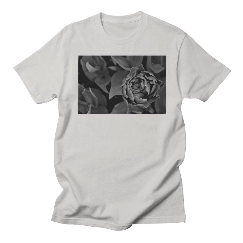 grayscale rose Men's T-shirt by Soulstone's Artist Shop