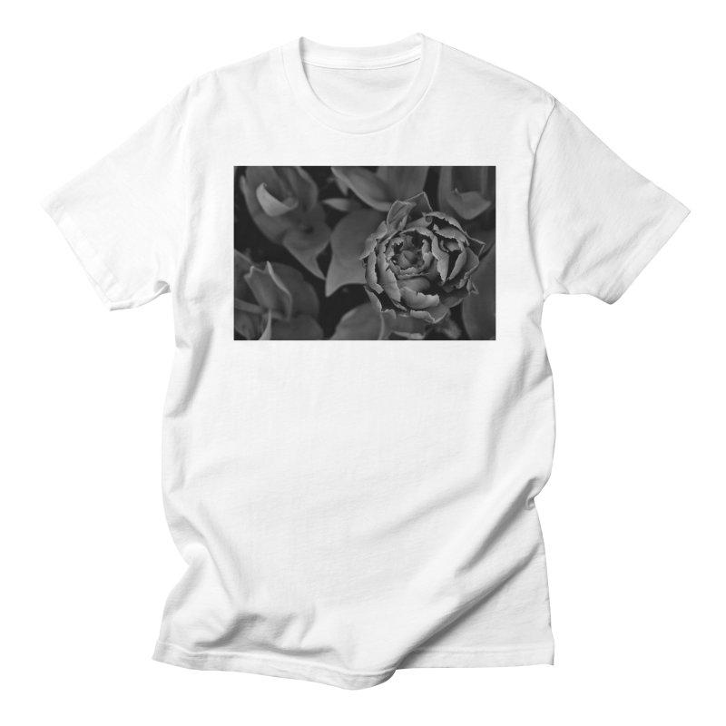 grayscale rose Women's Unisex T-Shirt by Soulstone's Artist Shop