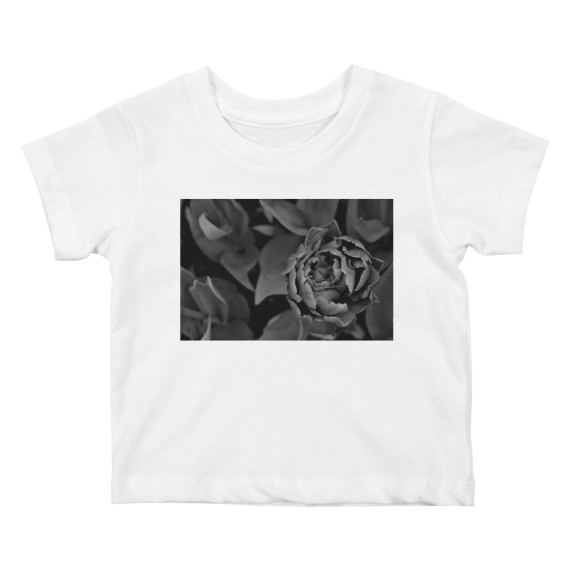 grayscale rose Kids Baby T-Shirt by Soulstone's Artist Shop