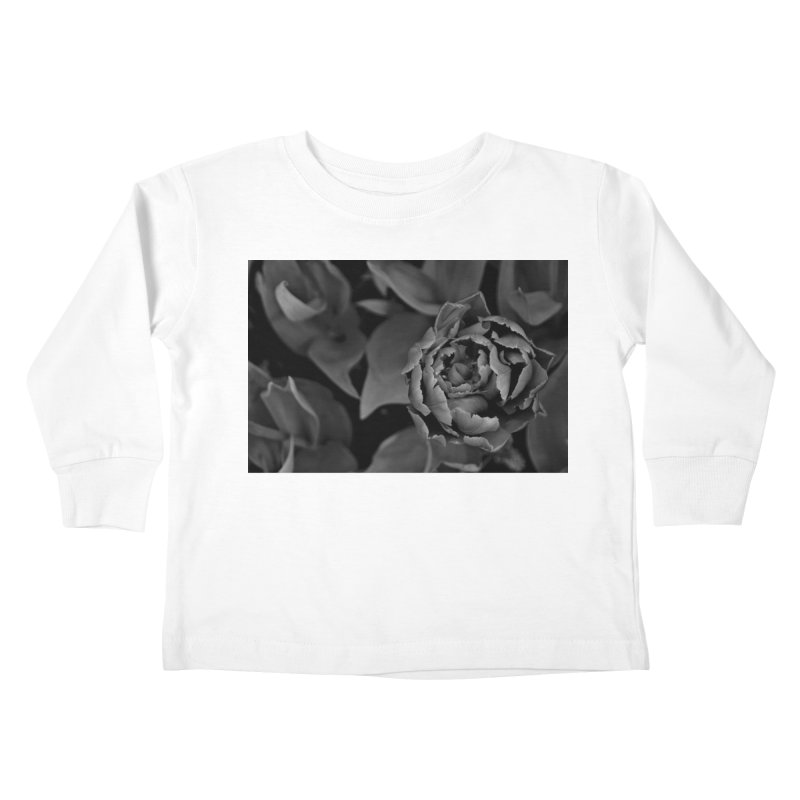 grayscale rose Kids Toddler Longsleeve T-Shirt by Soulstone's Artist Shop