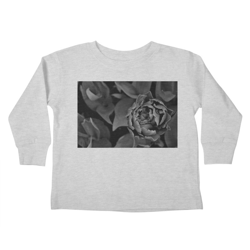 grayscale rose Kids Toddler Longsleeve T-Shirt by Soulstone's Artist Shop