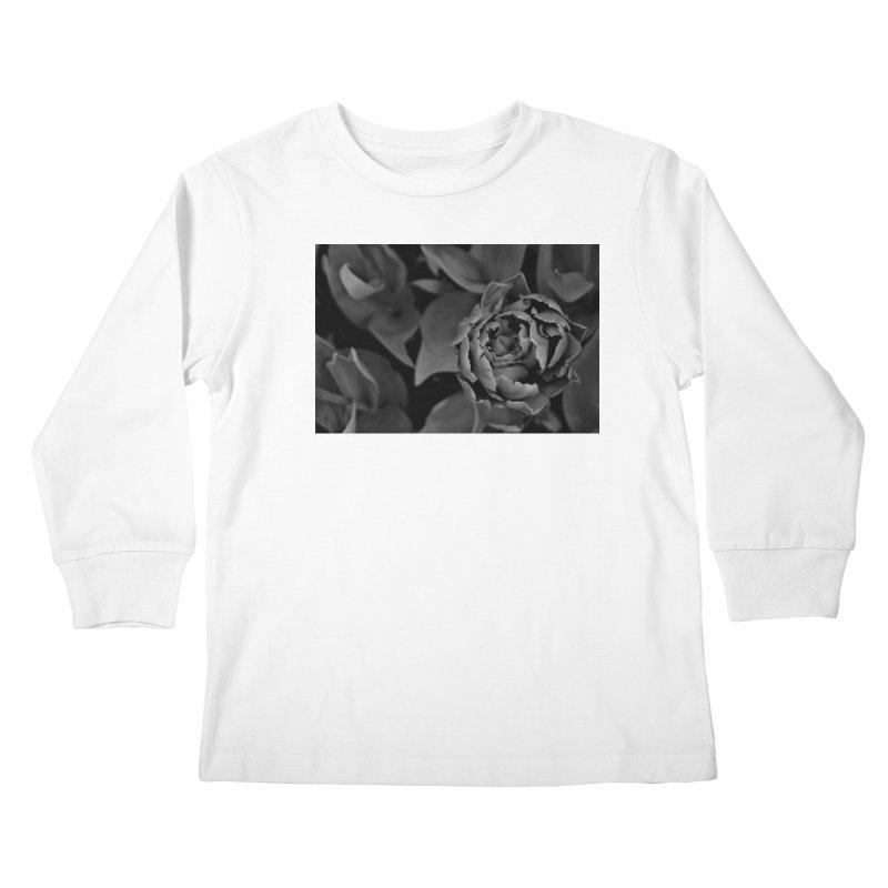 grayscale rose Kids Longsleeve T-Shirt by Soulstone's Artist Shop