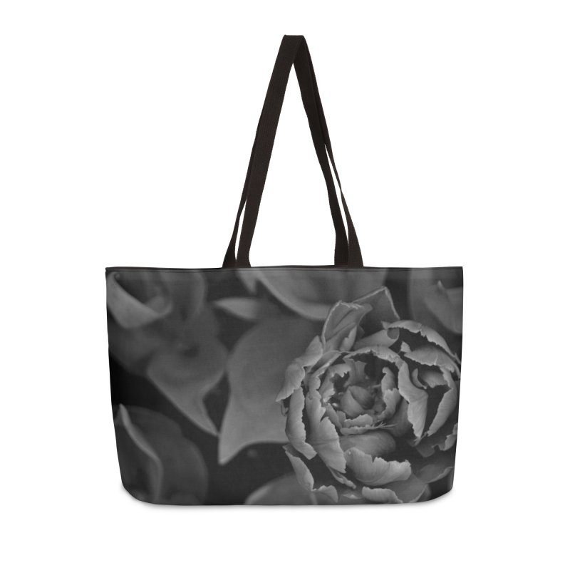 grayscale rose Accessories Bag by Soulstone's Artist Shop