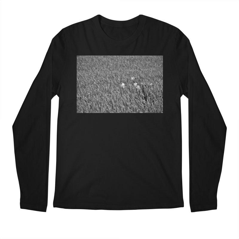 Grayscale field Men's Longsleeve T-Shirt by Soulstone's Artist Shop
