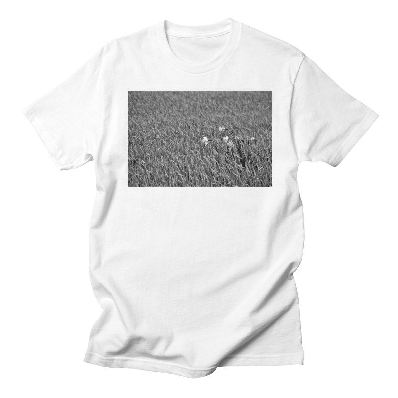 Grayscale field Men's T-shirt by Soulstone's Artist Shop