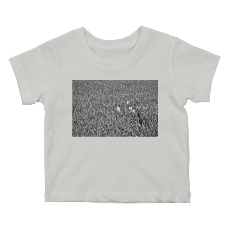 Grayscale field Kids Baby T-Shirt by Soulstone's Artist Shop