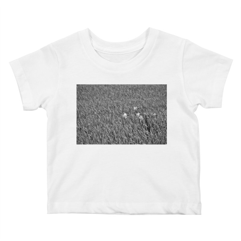 Grayscale field Kids Baby T-Shirt by Soulstone's Artist Shop